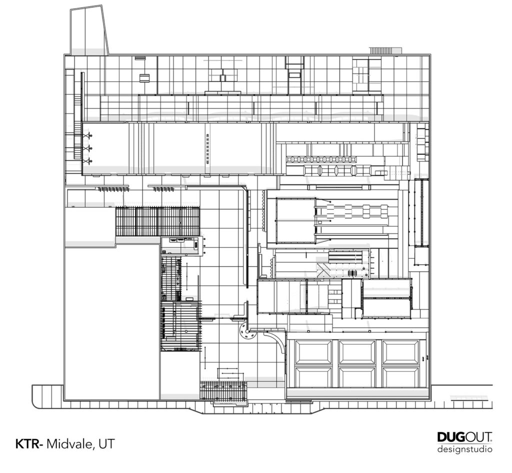 Plan view layout of KTR Midvale, UT