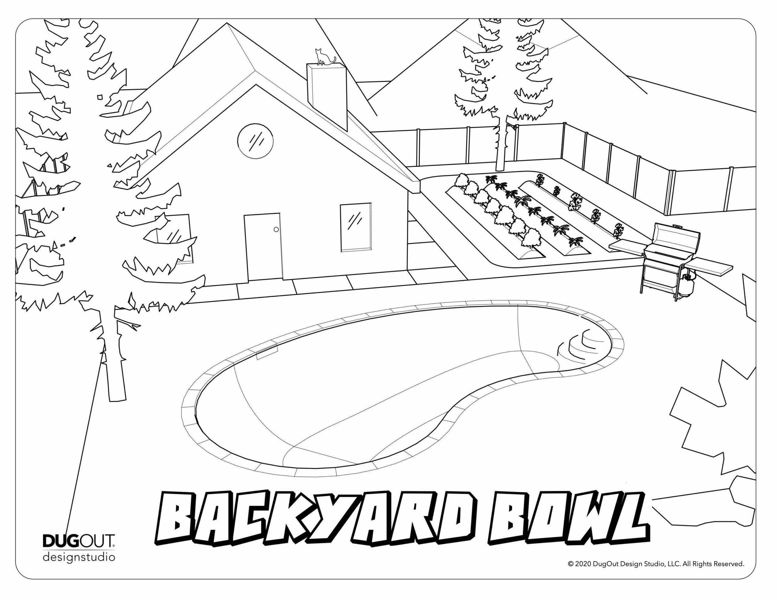 Backyard Bowl coloring page