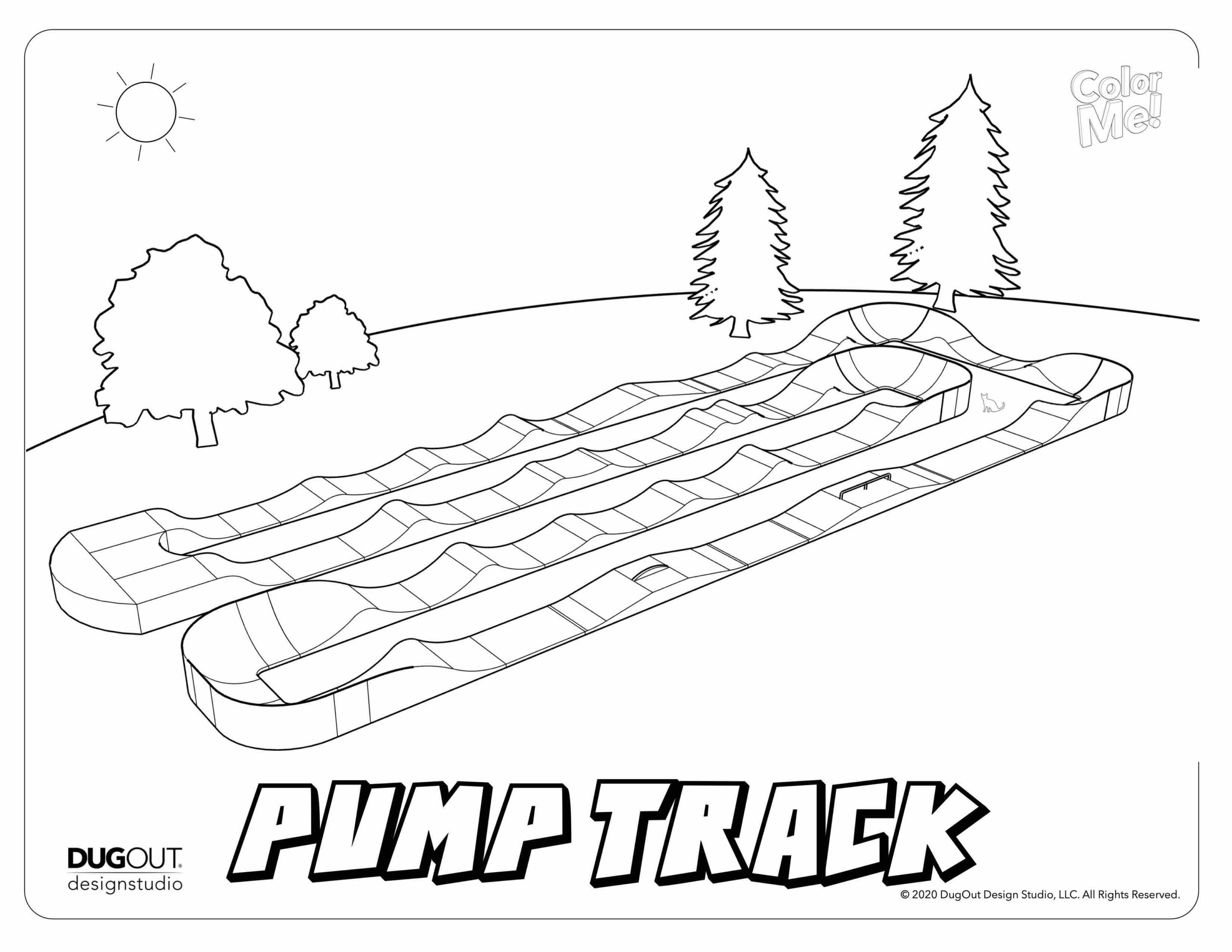 Pump Track Coloring page