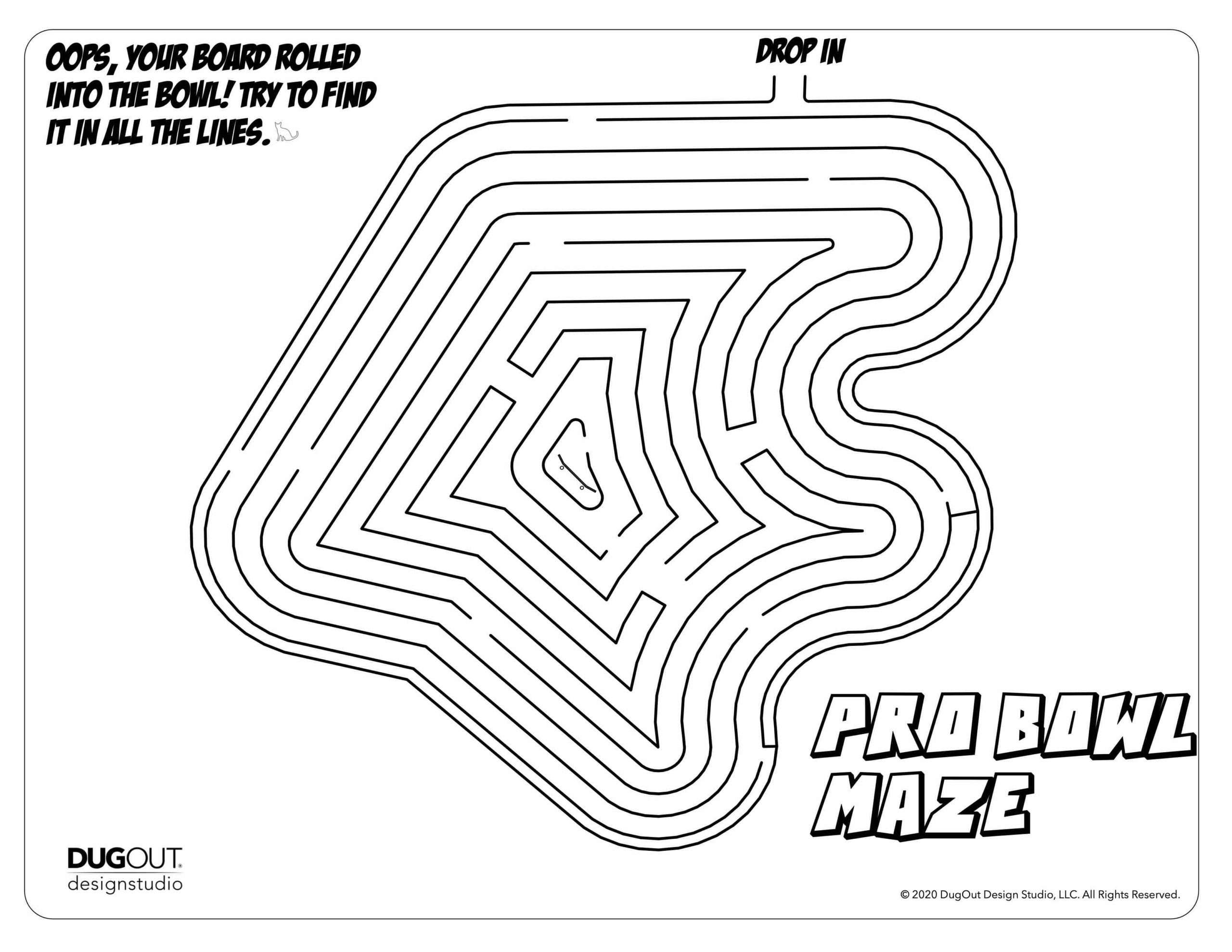 Pro Maze page in Skatepark Design Activity Book