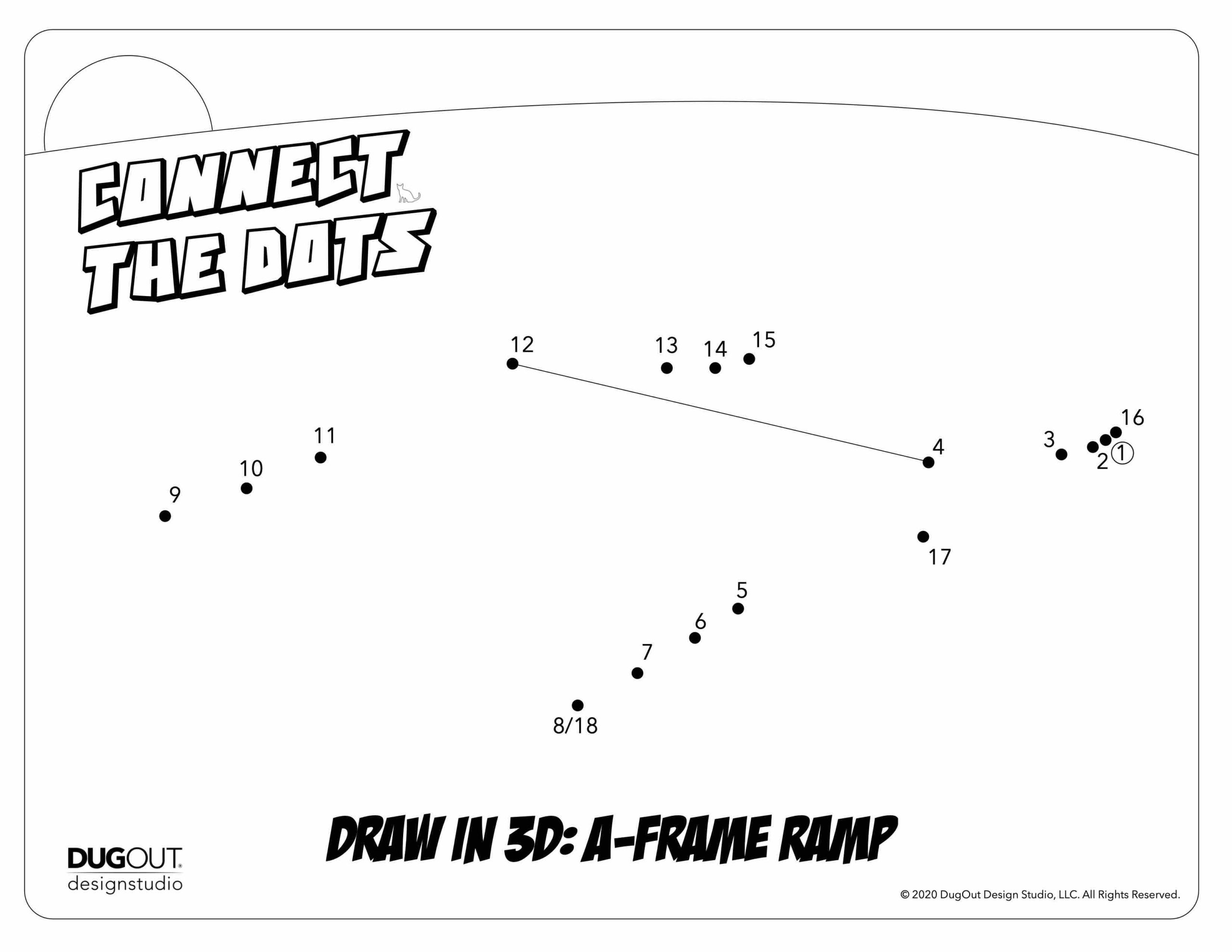 Connect the Dots: Learn to draw a 3D A-Frame Ramp