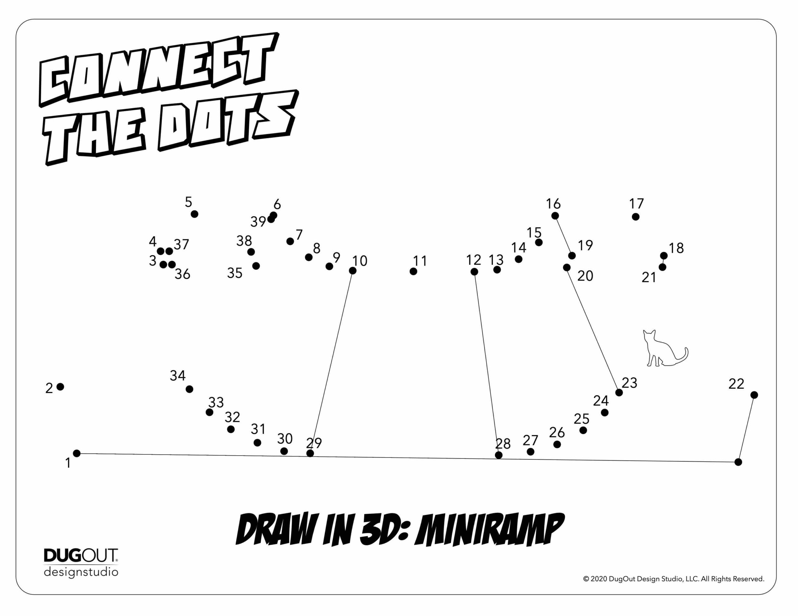 Connect the Dots: Learn to draw a 3D Mini-Ramp