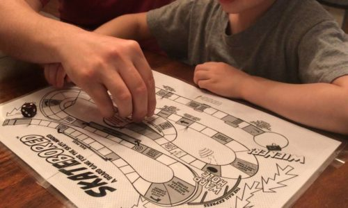 Created by DugOut Design Studio. Skatebored is a board game for the skate-minded.